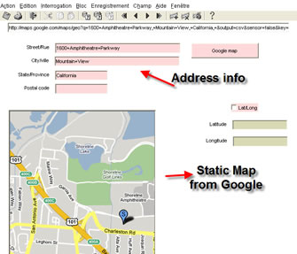 Static Google Map Javabean output-Oracle forms 10g